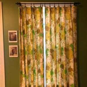 Set of 4 vintage curtain panels